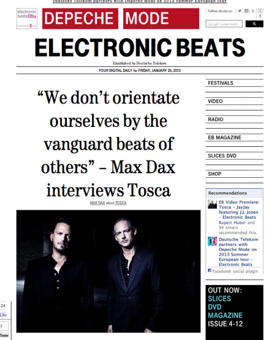 tosca.electronic beats