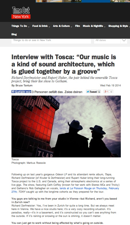 TOSCA NYC time out